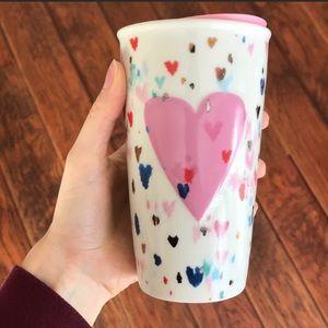 Starbucks Kitchen - Rare Starbucks Valentines Day Glass Tumbler